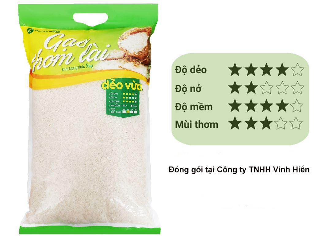 Gạo thơm lài Bách hoá XANH túi 5kg 1