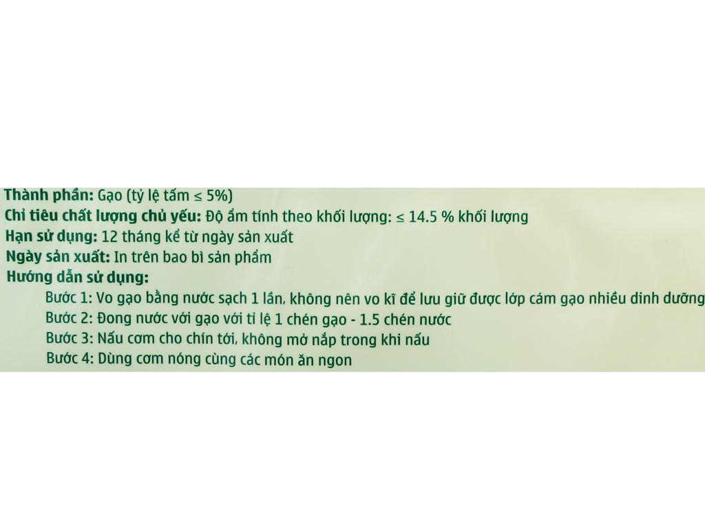 Gạo trắng Bách hoá XANH túi 5kg 3