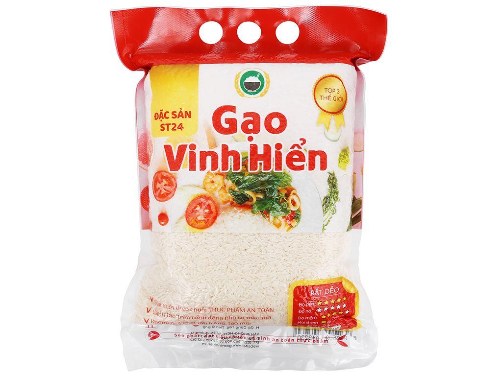 Gạo Vinh Hiển Đặc sản ST24 túi 2kg 1