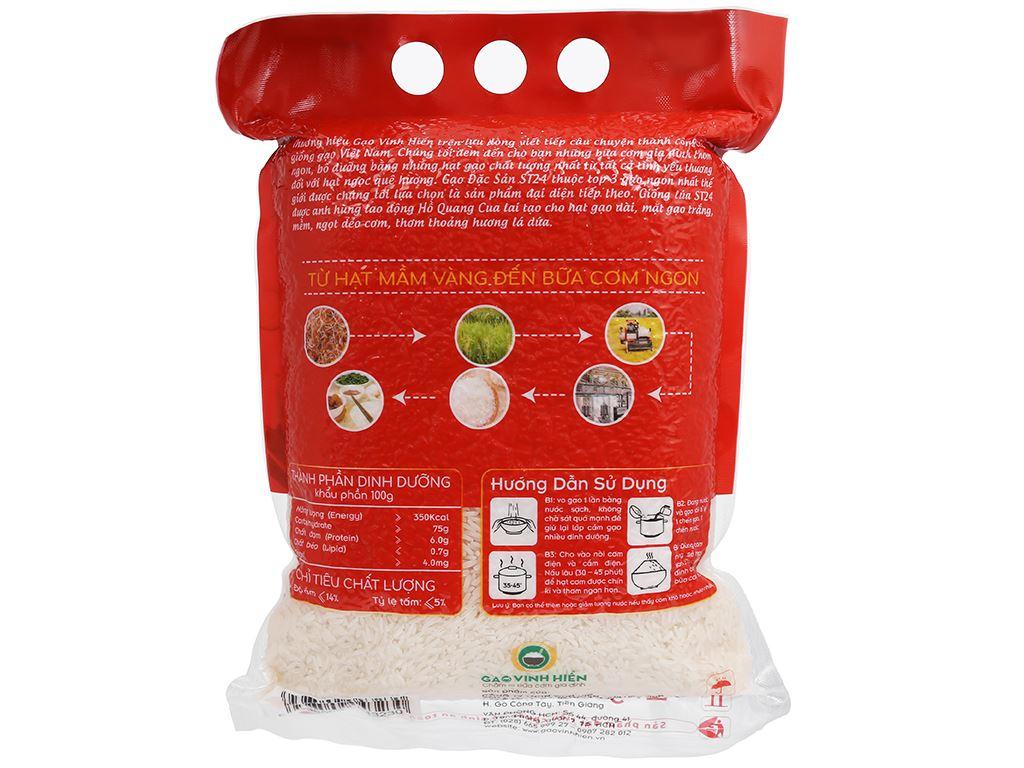 Gạo Vinh Hiển Đặc sản ST24 túi 2kg 2