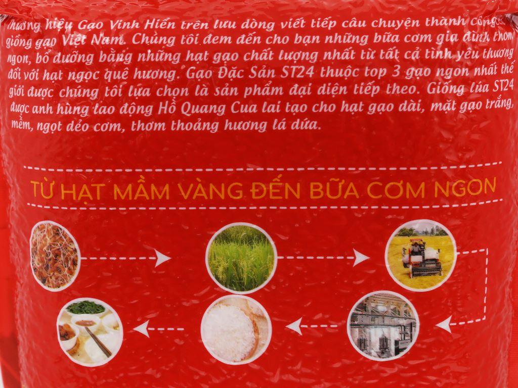 Gạo Vinh Hiển Đặc sản ST24 túi 2kg 3