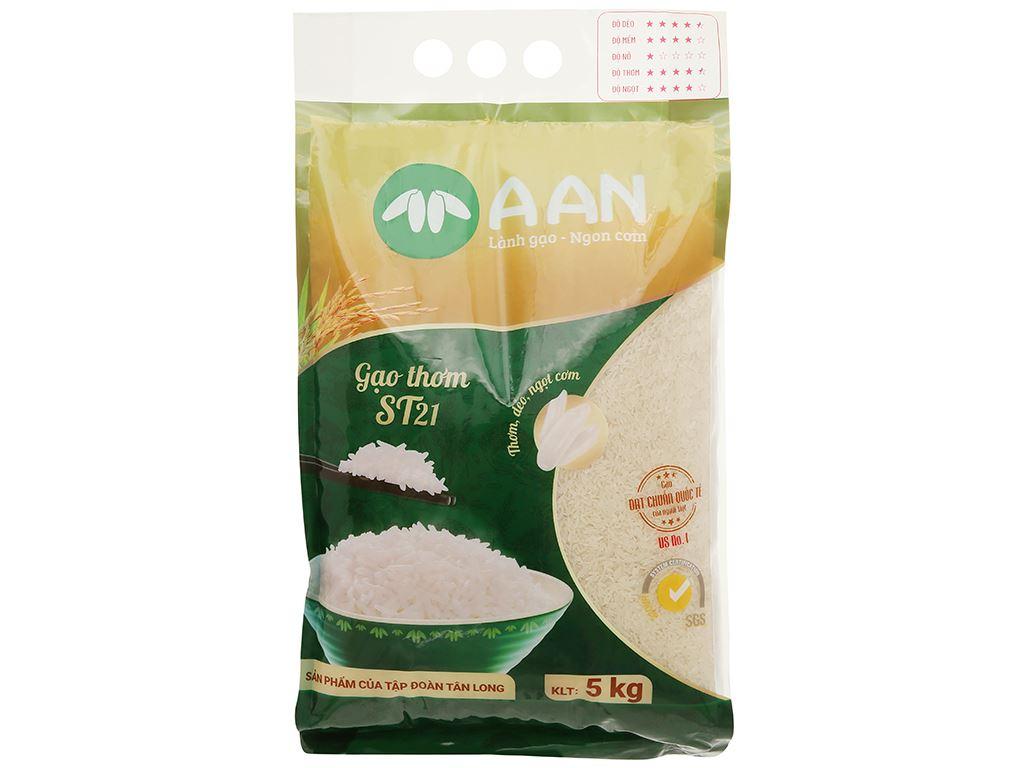 Gạo thơm A An ST21 túi 5kg 1