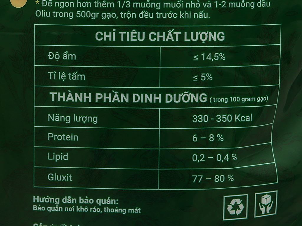 Gạo thơm A An ST21 túi 5kg 6