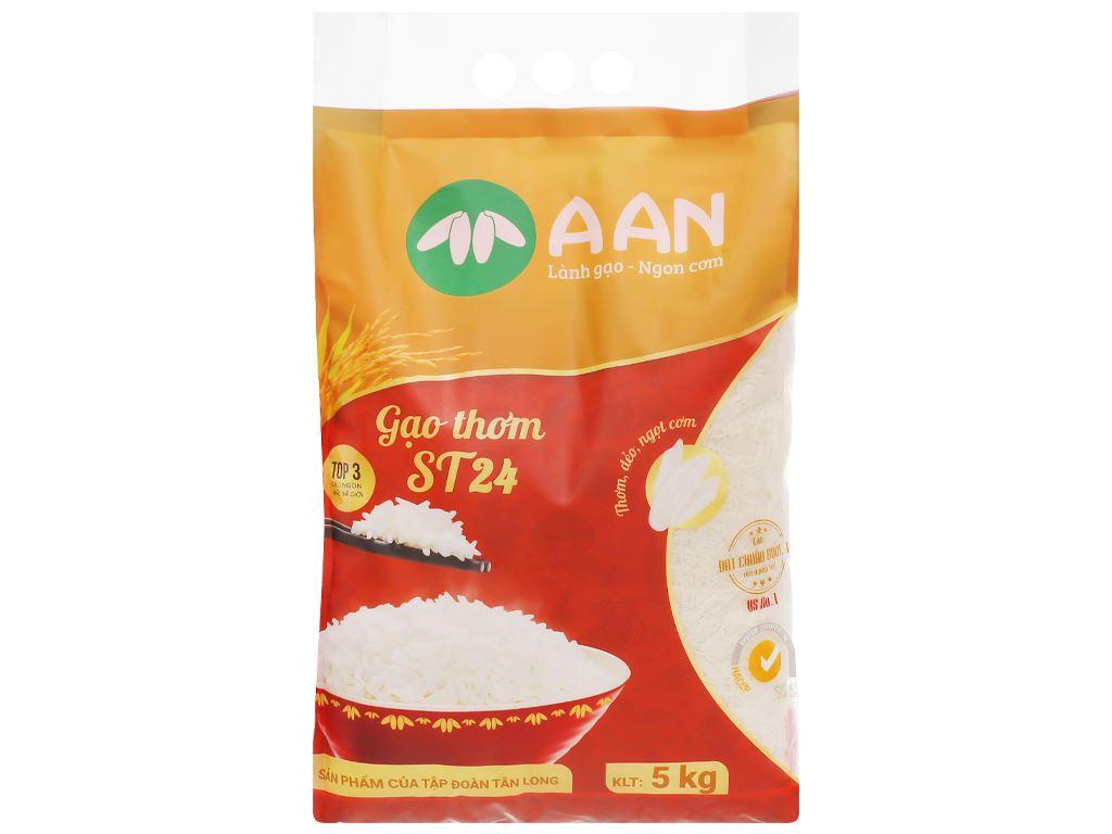 Gạo thơm A An ST24 túi 5kg 1