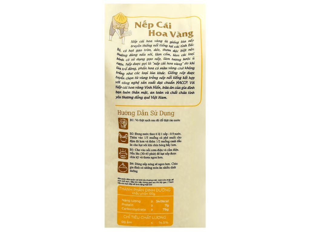 Nếp cái hoa vàng Vinh Hiển túi 1kg 3
