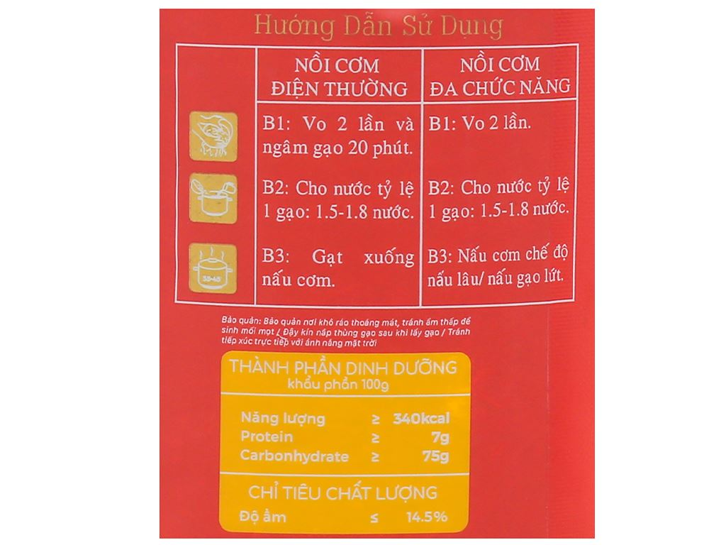 Gạo lứt đỏ Vinh Hiển túi 1kg 4