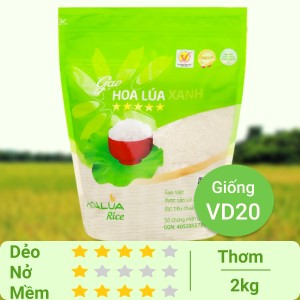 Gạo Hoa Lúa xanh túi 2kg