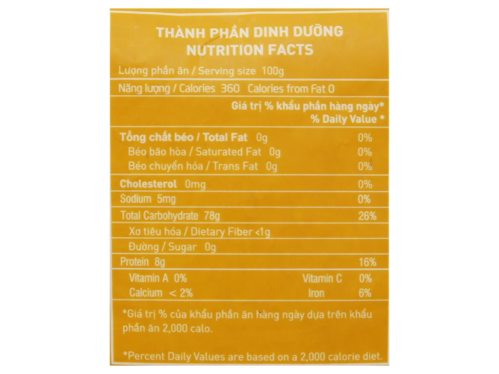 Gạo Hoa Lúa vàng túi 2kg 4