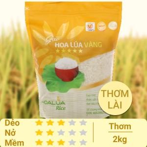 Gạo Hoa Lúa vàng túi 2kg