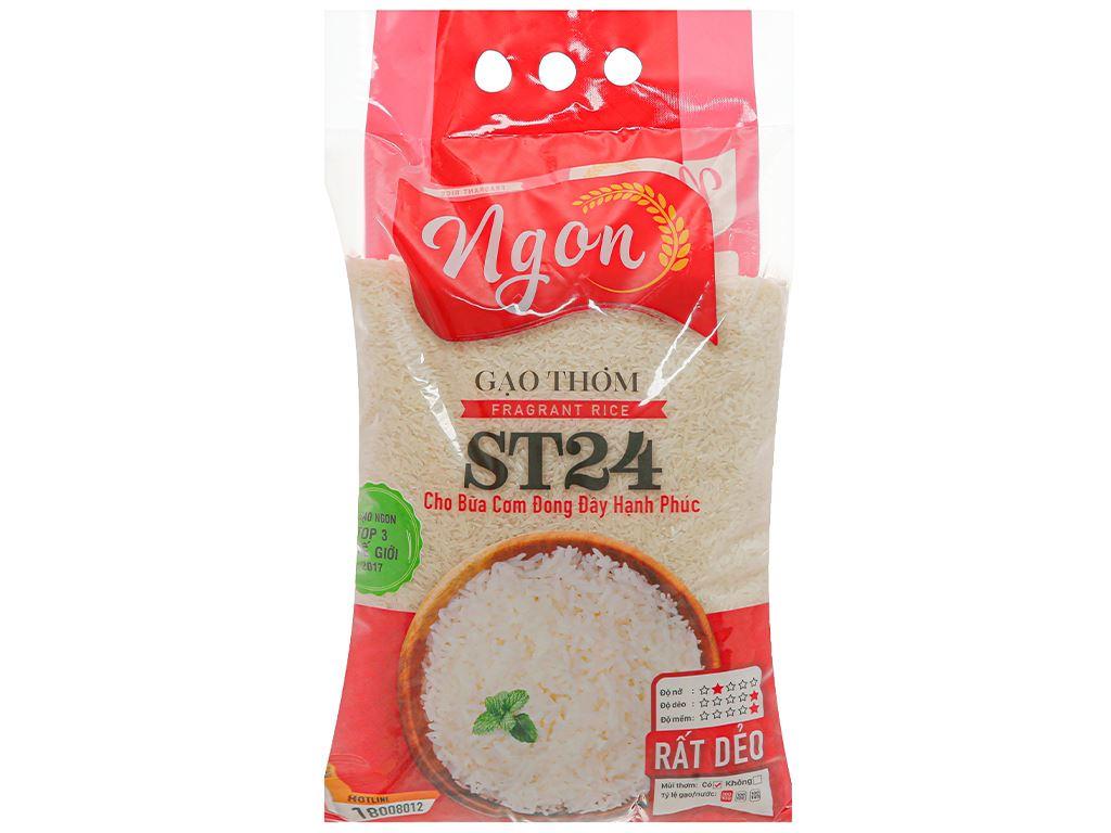 Gạo thơm Ngon ST24 túi 5kg 1