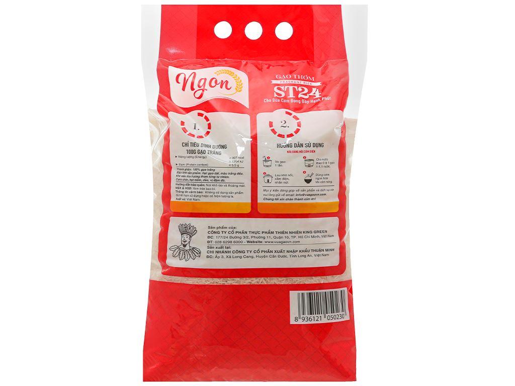 Gạo thơm Ngon ST24 túi 5kg 2