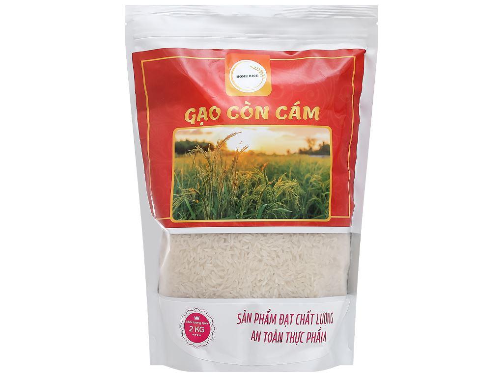 Gạo còn cám Home Rice túi 2kg 1