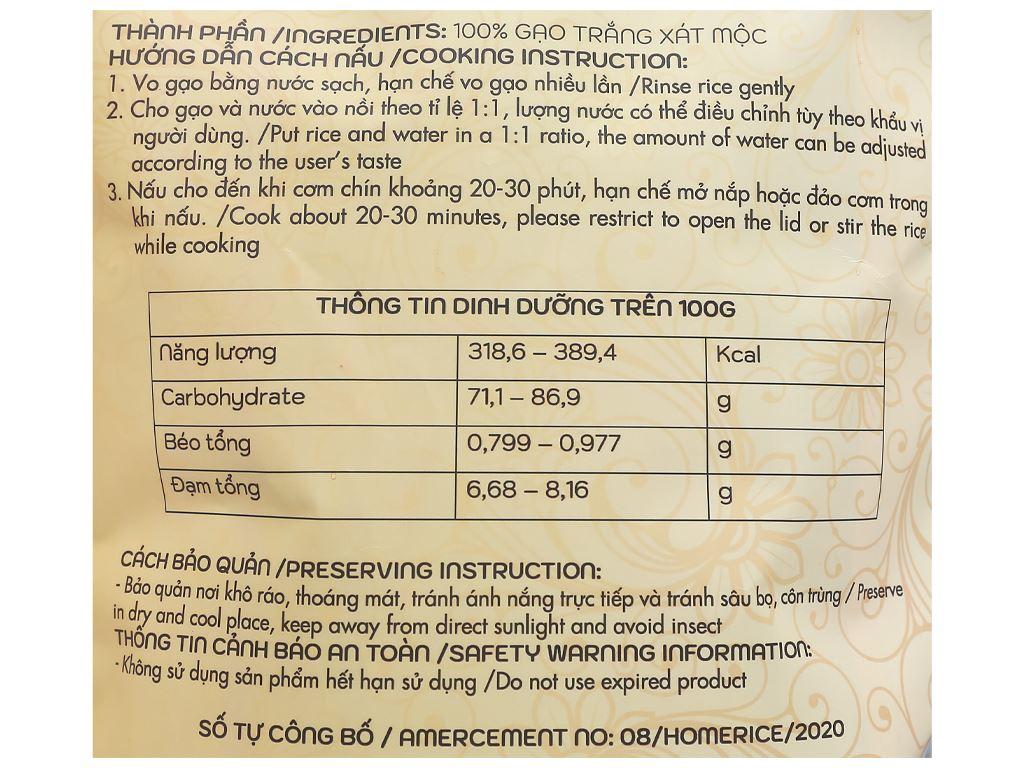 Gạo còn cám Home Rice túi 2kg 3