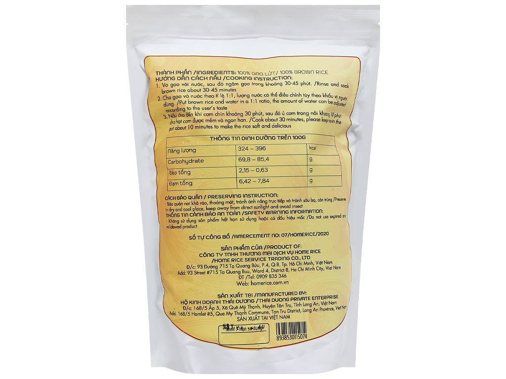 Gạo lứt Home Rice túi 2kg 2