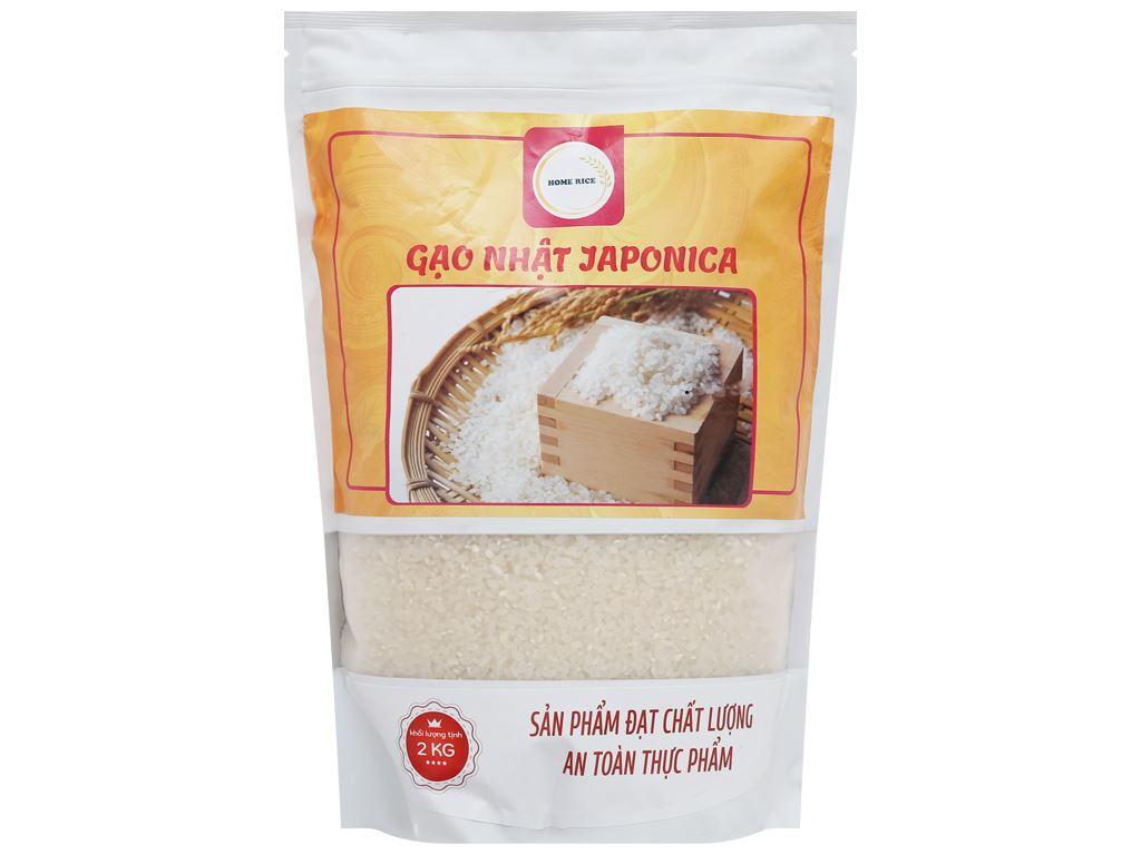 Gạo Nhật Japonica Home Rice túi 2kg 1