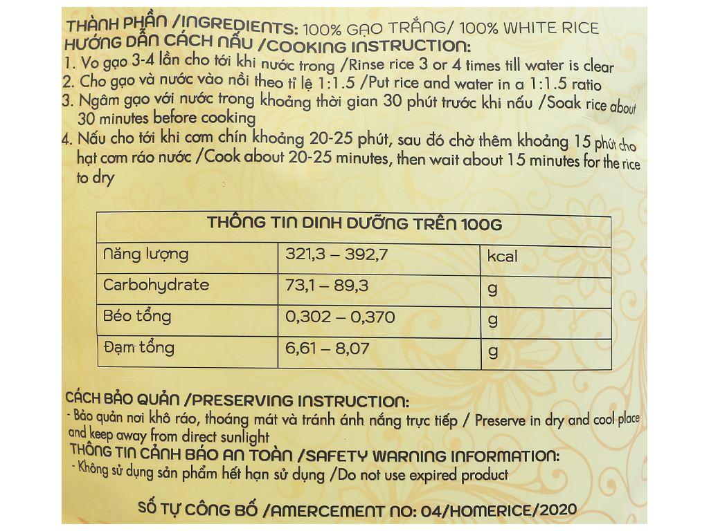 Gạo Nhật Japonica Home Rice túi 2kg 3