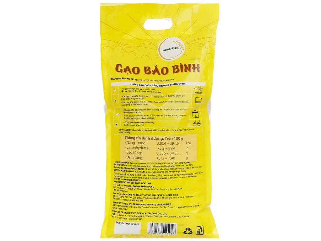 Gạo ST24 Home Rice Bảo Bình túi 5kg 2