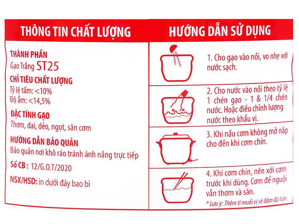 Gạo Ông Thọ ST25 túi 5kg 3