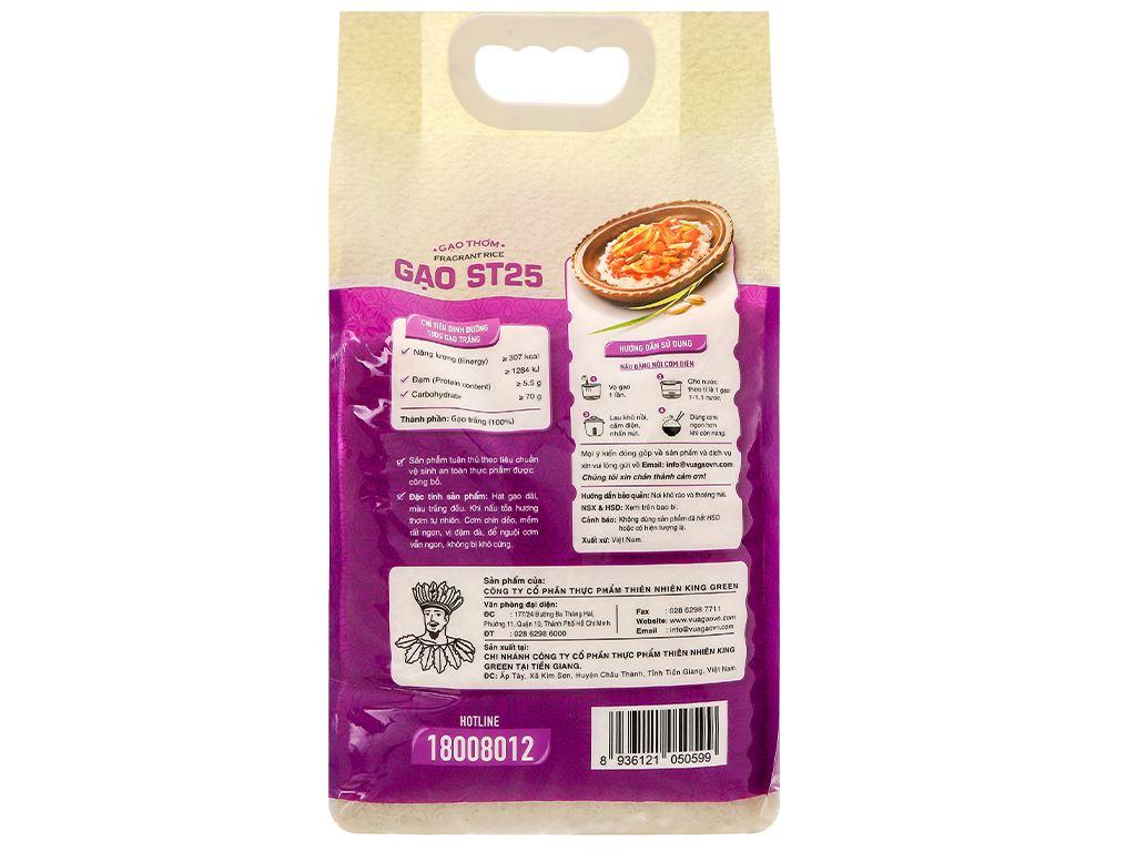 Gạo thơm Vua Gạo ST25 túi 5kg 2