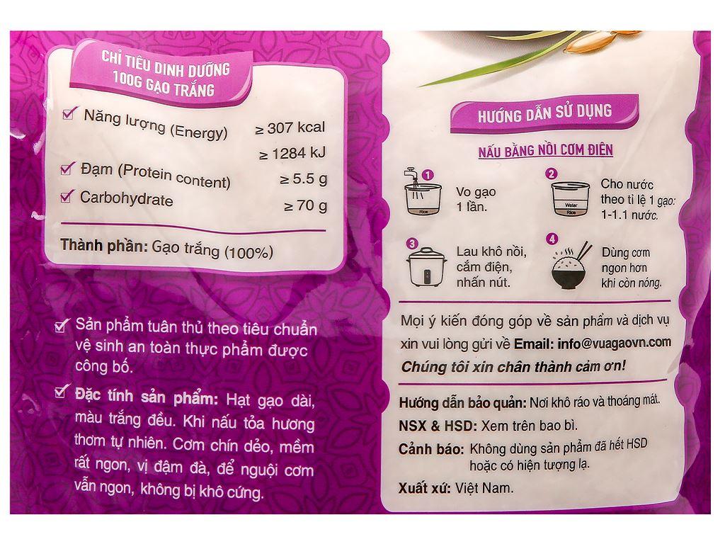 Gạo thơm Vua Gạo ST25 túi 5kg 4