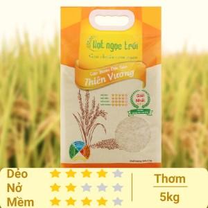 Gạo thơm Hạt Ngọc Trời Thiên Vương túi 5kg