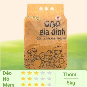 Gạo Hoa Lúa Gia đình túi 5kg