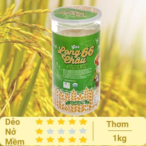 Gạo Cỏ May Long Châu 66 organic hộp 1kg