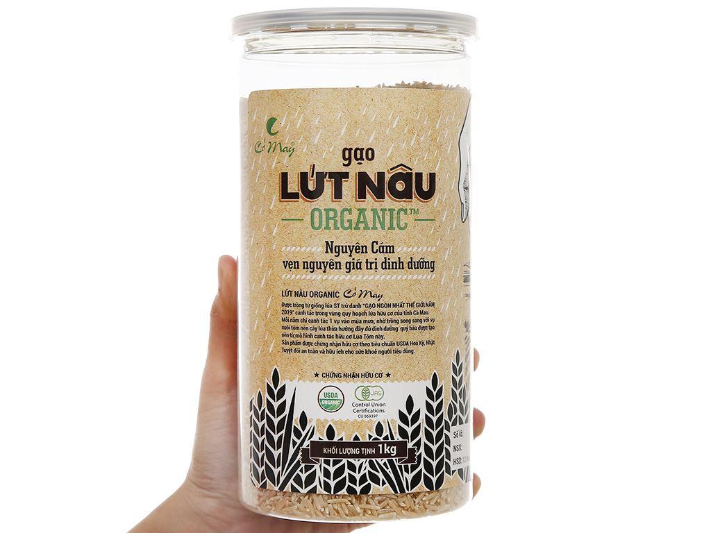 Gạo Cỏ May lứt nâu organic hộp 1kg 4