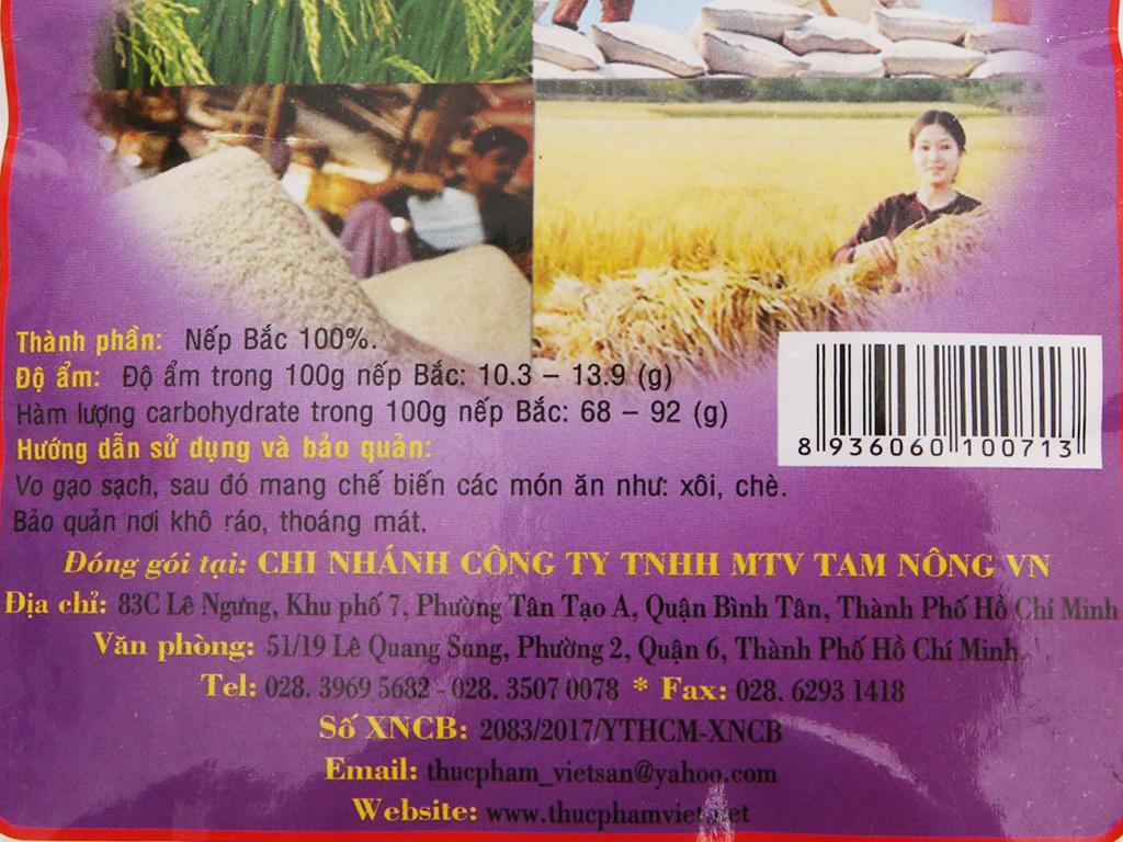 Nếp Bắc Việt San túi 1kg 4