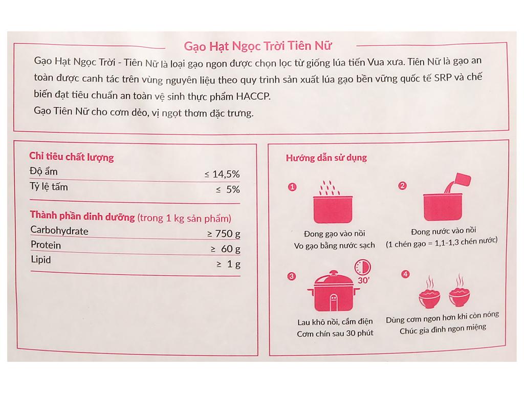Gạo Hạt Ngọc Trời Tiên Nữ túi 5kg 7