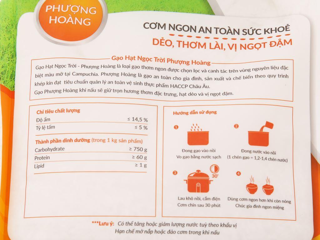 Gạo Hạt Ngọc Trời Phượng Hoàng túi 5kg 4