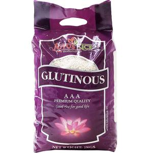 Gạo nếp dẻo thơm Lotus Rice Sen Vàng túi 2kg
