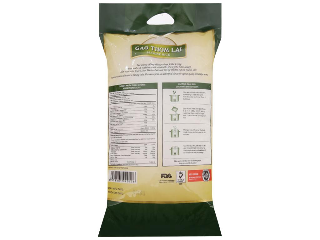 Gạo thơm lài Lotus Rice Jasmine túi 5kg 2