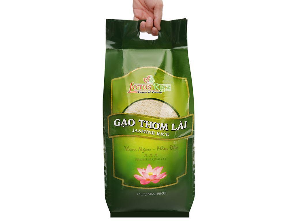 Gạo thơm lài Lotus Rice Jasmine túi 5kg 8