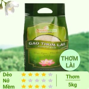 Gạo thơm lài Lotus Rice Jasmine túi 5kg