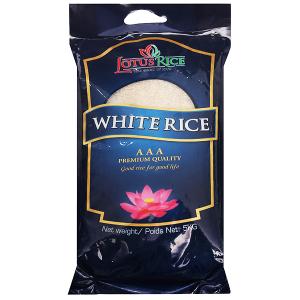 Gạo trắng Lotus Rice túi 5kg