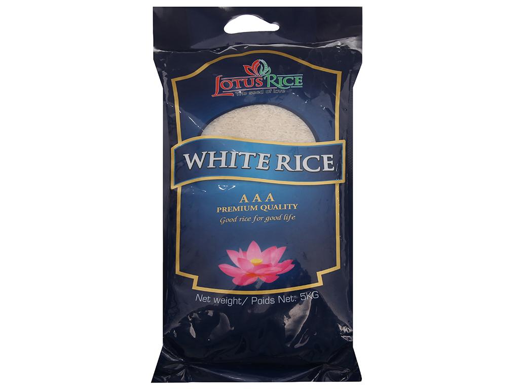 Gạo trắng Lotus Rice túi 5kg 1