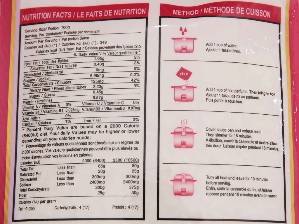 Gạo thơm thượng hạng Lotus Rice Nàng Sen túi 2kg 4