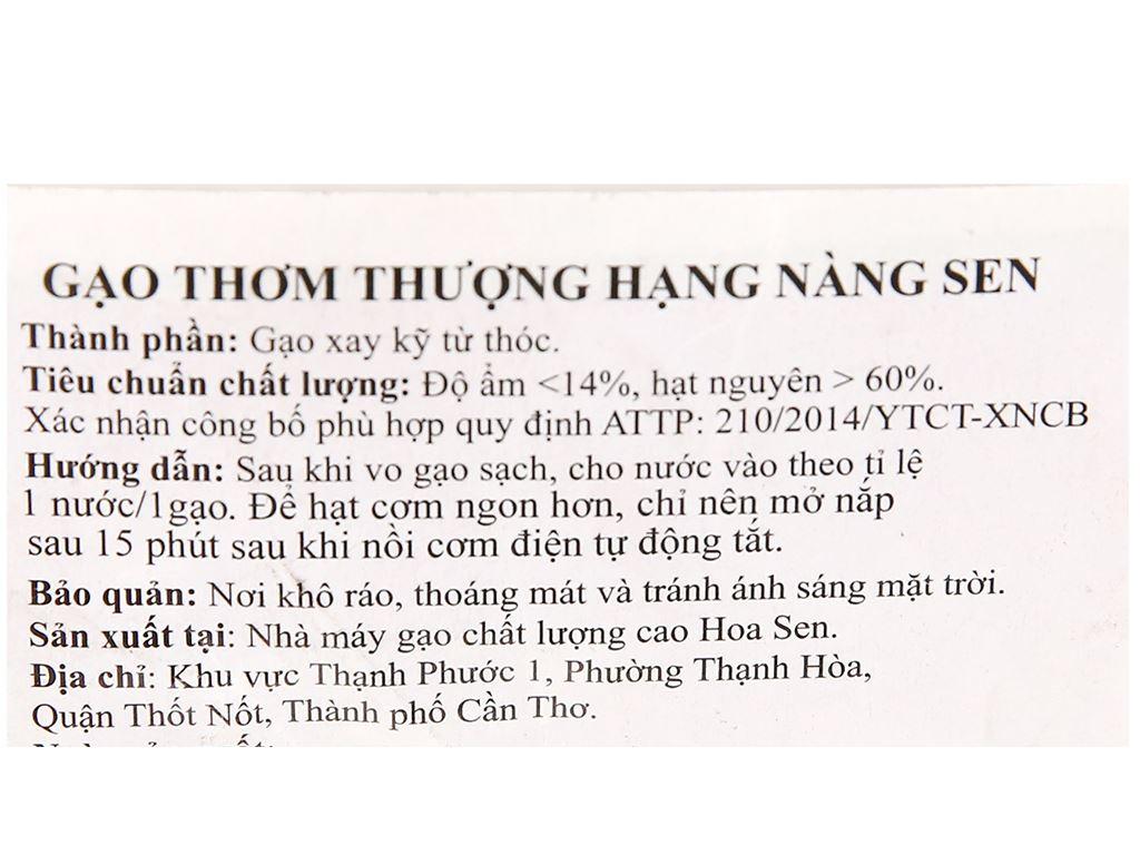 Gạo thơm thượng hạng Lotus Rice Nàng Sen túi 2kg 10
