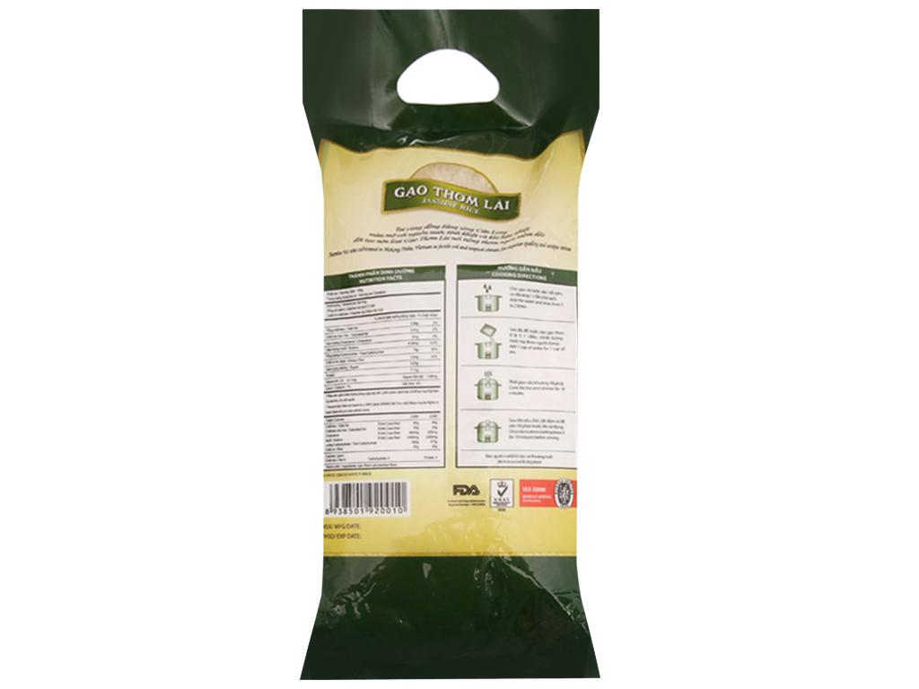 Gạo thơm lài Lotus Rice Jasmine túi 2kg 2