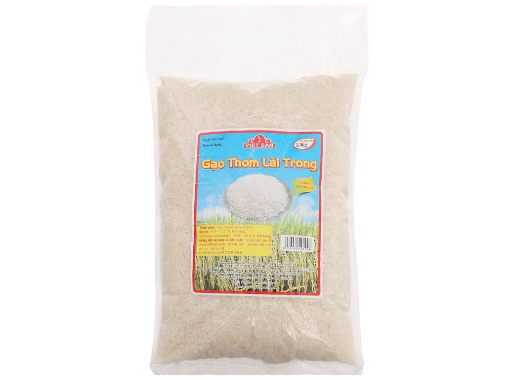 Gạo thơm lài trong Việt San túi 5kg 2