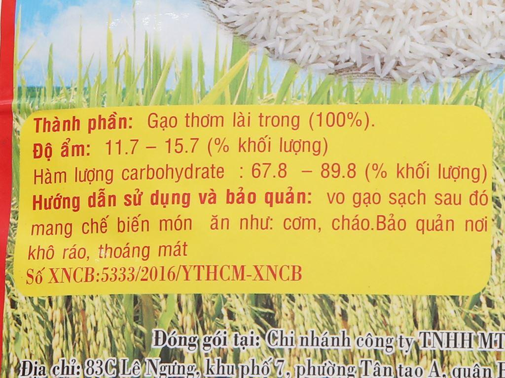 Gạo thơm lài trong Việt San túi 5kg 5