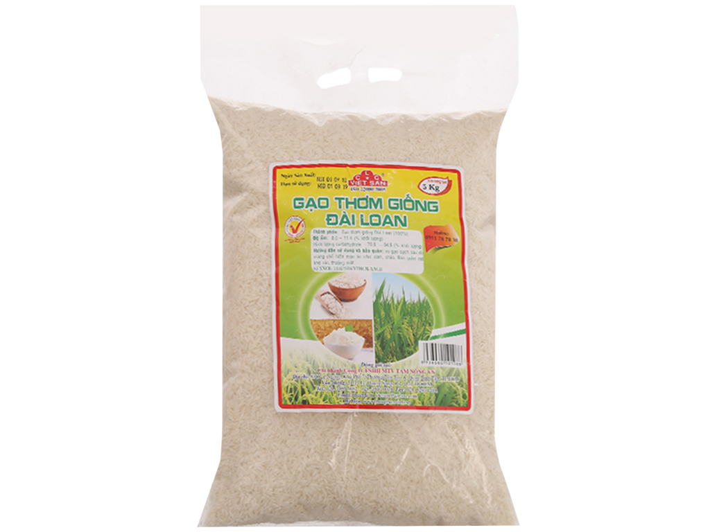 Gạo giống Đài Loan Việt San túi 5kg 2