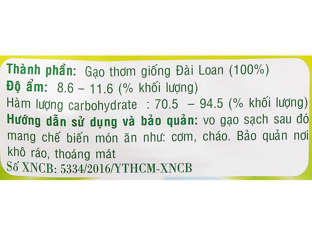 Gạo thơm giống Đài Loan Việt San túi 5kg 7