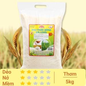 Gạo thơm giống Đài Loan Việt San túi 5kg