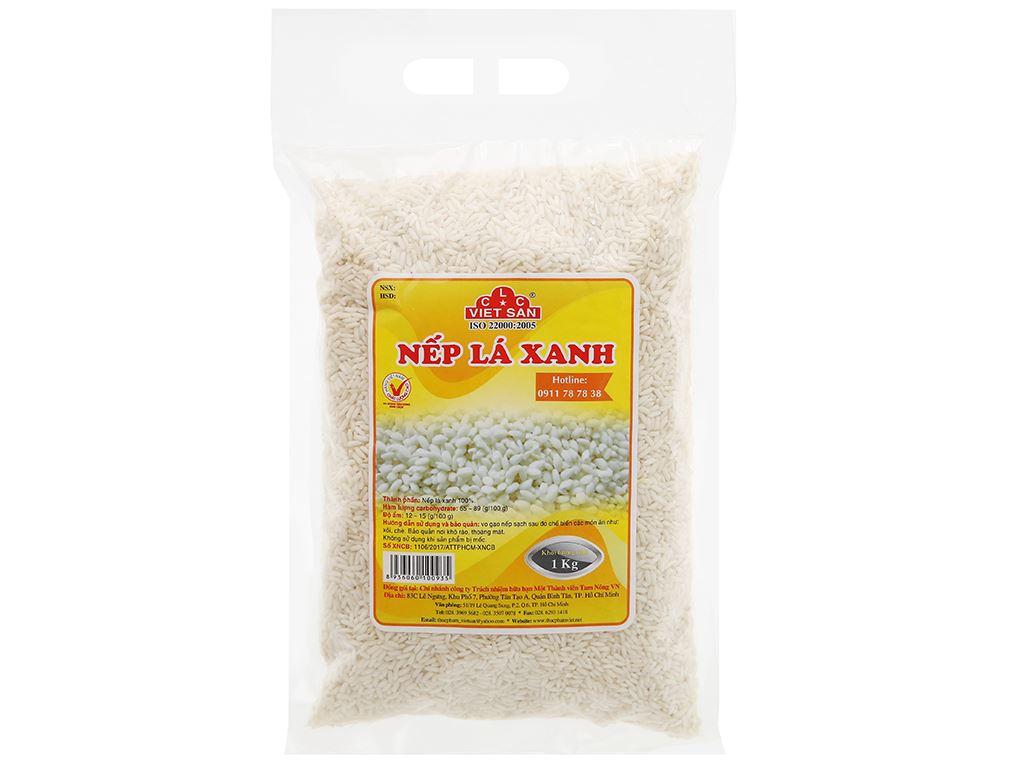 Nếp lá xanh Việt San túi 1kg 5
