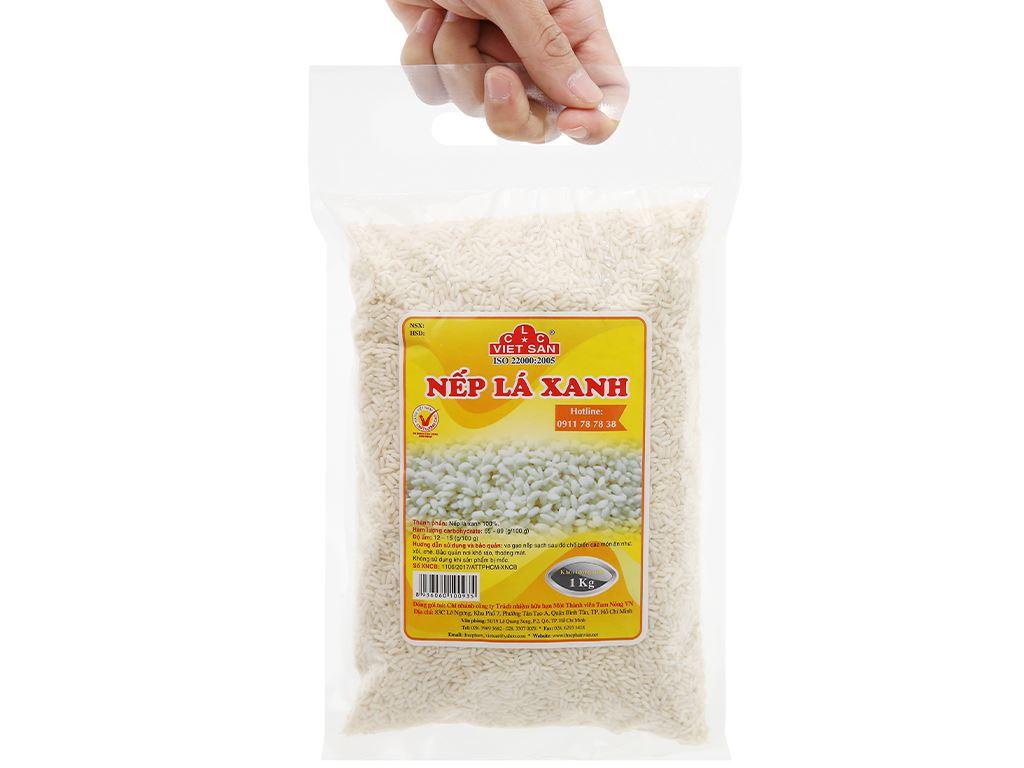 Nếp lá xanh Việt San túi 1kg 8