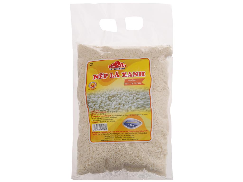 Nếp lá xanh Việt San túi 1kg 1