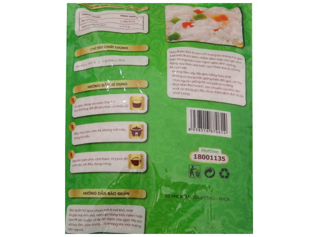 Gạo Thiên Kim A túi 5kg 4
