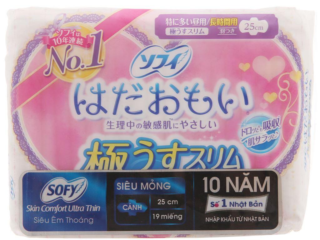 Băng vệ sinh Sofy Skin Comfort siêu mỏng cánh 19 miếng 2